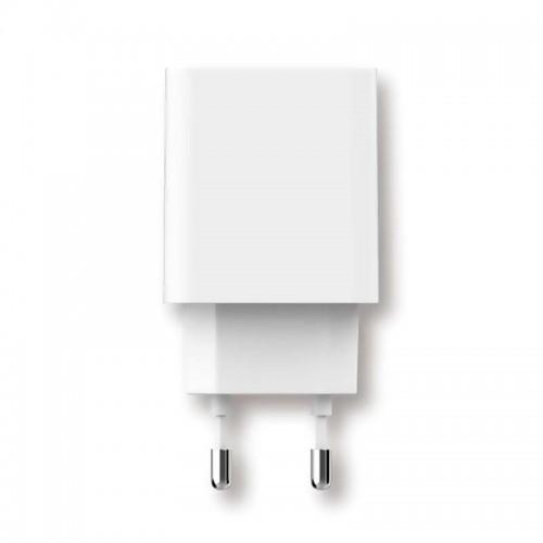 Зарядно устройство USB за стена 5V 1A/2.1A бяло