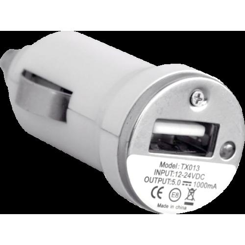 Зарядно устройство USB за кола 12V/24V 1А