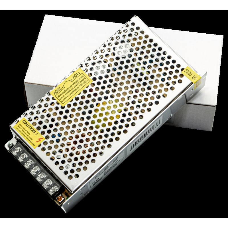 Захранване за видеоконтрол DC 12V 10A , метален блок