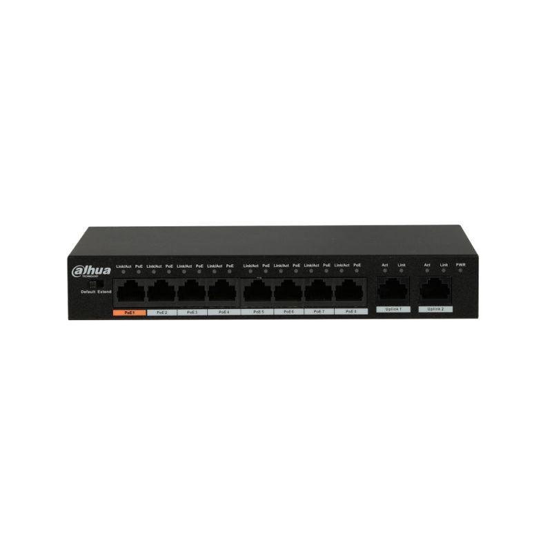 Мрежово устройство Dahua PFS3010-8ET-96 Poe Switch