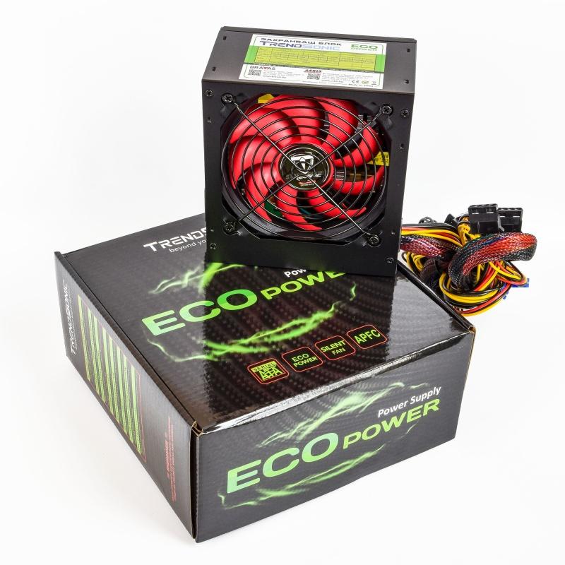 Захранване TrendSonic ECO POWER, 600W, 120mm вентилатор